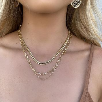 Linked Together Gold Layered Necklace