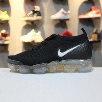 Nike Air VaporMax 2.0 Flyknit Black White 942843-001 Sport Running Shoes - Sale