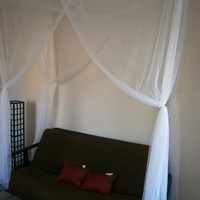 Octorose ® Twin Size Single Bed White Color 4 Corner / Post Bed Canopy Mosquito Net