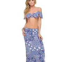 Luli Fama Brunchin Maxi Skirt - Naughty Girl