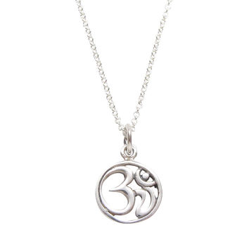 Sterling Silver Om Necklace