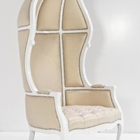 www.roomservicestore.com - French Twist Balloon Chair in Gold Trophy Linen