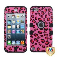 MyBat Pink Leopard Skin/Black TUFF Hybrid Protector Cover for iPod touch 5