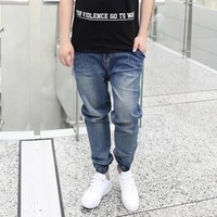 Flexible skate boarding Men Elastic Harem pants Tapered Baggy Pants Drop Crotch pants Hip-hop Pants for street or skating