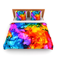 "Claire Day ""Sweet Sour II"" King Fleece Duvet Cover - Outlet"