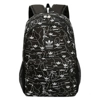 Black Adidas Canvas Backpack School Bookbag Travel Bag Daypack