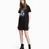 T-shirt Dress with Motif - from H&M