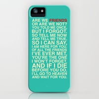 Friends iPhone Case by Fimbis | Society6