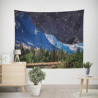 Mountains in Space Microfiber Wall Tapestry