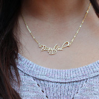 ON SALE Hello February SALE - Personalized Name Necklace - Initials Necklace - Any font available -Valentines Gift - Ships in 1-2 Weeks