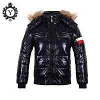 2016 New Winter Jacket Men Breathable Casual Outwear Clothing Solid Black Parkas Coats Boys' Jaqueta Masculina High Quality D006