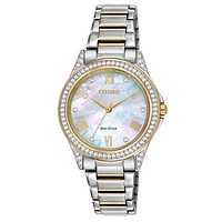 Citizen DRIVE Ladies POV Swarovski Crystal Watch - Two-Tone Case & Bracelet
