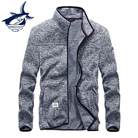 Brand Clothing Tace & Shark Hoodies Men Sweatshirts Casual Fashion Zipped  Stand Collar knitted Men's Hoodie England Style 4XL