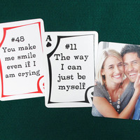 52 Reasons I Love You Playing Cards Deck Anniversary Valentine Gift For Her For Him