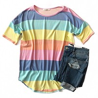 Sherbet Stripe Top