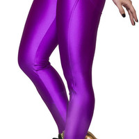 BadAssLeggings Women's Active Sport Leggings Medium Purple