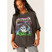 Metallica Creeping Death Oversized Band Tee by Daydreamer LA