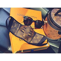 Louis Vuitton LV Genuine Leather Face Mask Anti-Dust Half Face Shield Cover Outdoor Safety