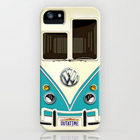 Blue Volkswagen VW With Back to the future License Plate iPhone 3gs, 3g, 4, 4s and iphone 5 case