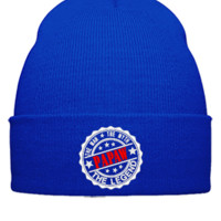 Papaw - The Man The Myth The Legend embroidery hat - Beanie Cuffed Knit Cap
