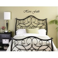 HAVE FAITH Vinyl wall quotes religious sayings home art decor decal