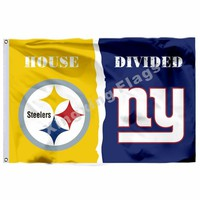 Pittsburgh Steelers New York Giants House Divided Flag 3ft X 5ft Polyester NCAA Banner Flying Size No.4 90*150cm Custom