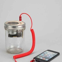 Trash Amps Mason Jar Portable Speaker- Silver One Size- Silver One