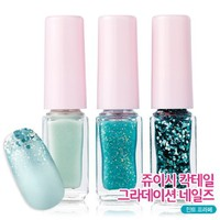 Etude House Juicy Cocktail Gradation Nails #4 Mint Parfait Mint (4g X 3ea)