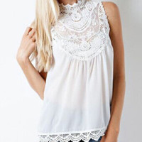 SIMPLE - Summer Chiffon Floral Printed Loose Sleeveless Top Women Tank Vest a11810