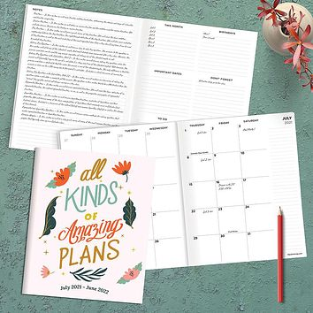 July 2021-June 2022 Amazing Plans Large Monthly Planner