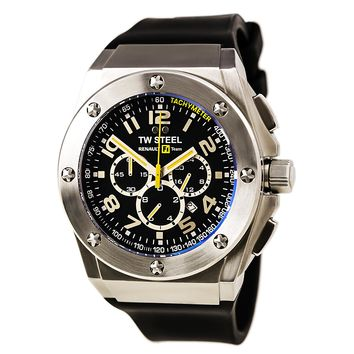 TW Steel TW681 Men's Renault F1 Team Black Dial Black Silicone Strap Chronograph Watch