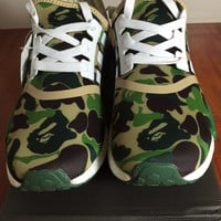 Adidas NMD R1 Green Bathing Bape Men Size 10