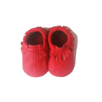 Ruby Red Baby Moccasins