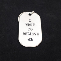 I Want To Believe - X Files - Aluminum Key Chain