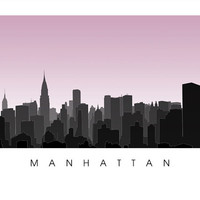 Midtown Manhattan Skyline - New York City Poster Print - NYC Art - Empire State Building, Times Square, Broadway, Rockefeller Center, NY