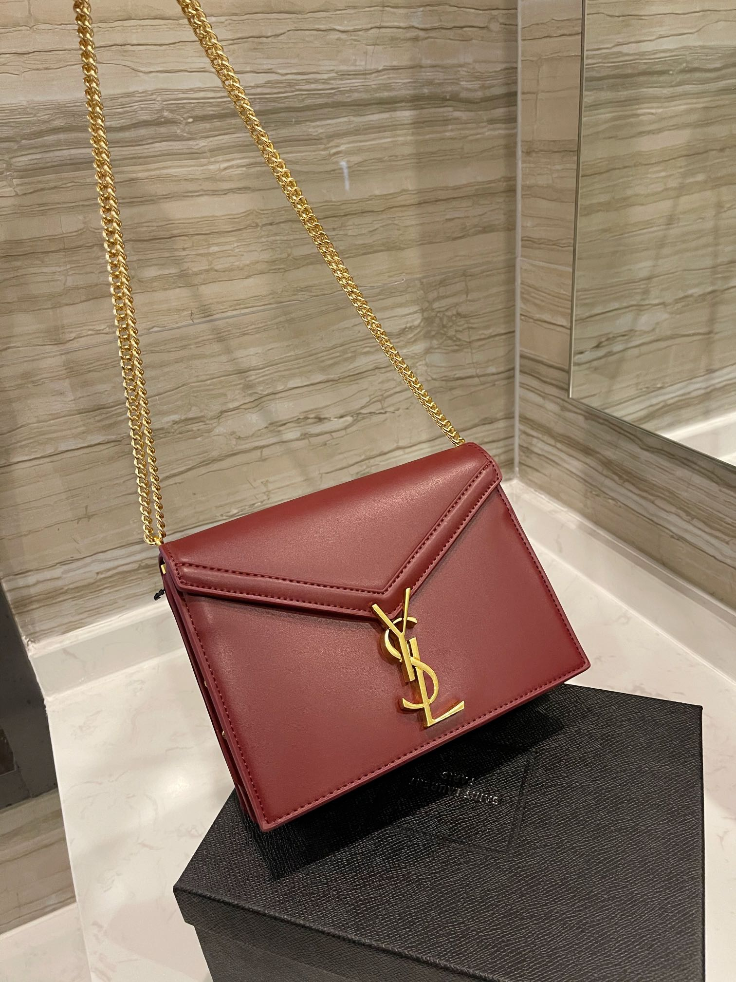 Image of YSL Women's fashion Leather Shoulder Bag Satchel Tote Bags Crossbody 0425