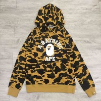 spbest A Bathing Ape 1st Camo College Hoodie