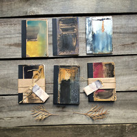 Black & Blue traveller's notebook with original painting of abstract watercolour