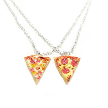 Pizza Necklace, Charm Necklace, Charm Jewelry, Best Friend Necklace, Pizza Jewelry, Slice Of Pizza Charm, Pizza Lover, Sisters Necklace