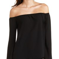 Off-The-Shoulder Bell Sleeve Top by Charlotte Russe
