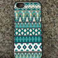 iPhone 5 Tribal Aztec custom Hard iPhone Case Available in Black