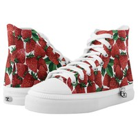 Delicious Strawberries Printed Shoes