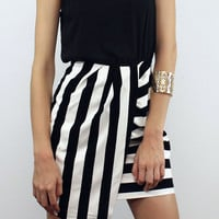 Velvet & Leather Meant to be in Stripes Dress