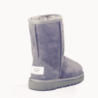 UGG Short boots antiskid warm lazy sheep fur simple ugg boots canister boots Grey