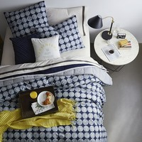 Chalk Dottie Duvet Cover + Shams - Nightshade