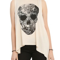 Skull Lace Girls Tank Top