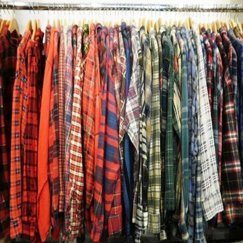 Unisex Mystery Hipster Fall & Winter Flannel Shirts-All Sizes & Colors