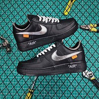 OFF White x Nike Air Force 1 AF1 Low Black/Silver