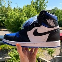 Nike Air Jordan 1 Retro High Royal Toe Basketball Shoes Sneakers
