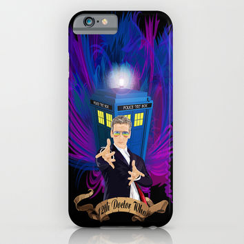 12th Doctor with rainbow Ray ban glasses iPhone 4 4s 5 5c 6, pillow case, mugs and tshirt iPhone & iPod Case by Three Second